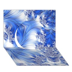 Special Fractal 17 Blue Circle 3D Greeting Card (7x5)