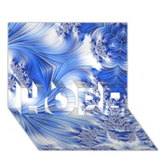Special Fractal 17 Blue HOPE 3D Greeting Card (7x5)