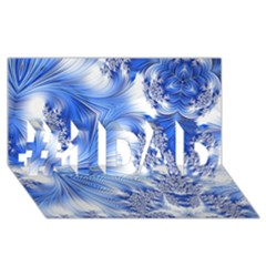 Special Fractal 17 Blue #1 DAD 3D Greeting Card (8x4)