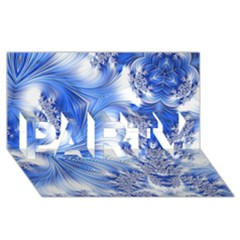 Special Fractal 17 Blue PARTY 3D Greeting Card (8x4)