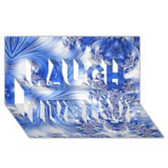 Special Fractal 17 Blue Laugh Live Love 3d Greeting Card (8x4)