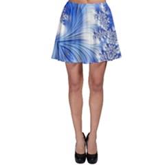 Special Fractal 17 Blue Skater Skirts