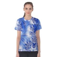 Special Fractal 17 Blue Women s Cotton Tees