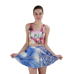Special Fractal 17 Blue Mini Skirts