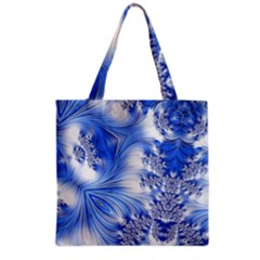 Special Fractal 17 Blue Grocery Tote Bags