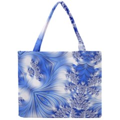 Special Fractal 17 Blue Tiny Tote Bags