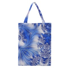 Special Fractal 17 Blue Classic Tote Bags