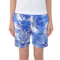 Special Fractal 17 Blue Women s Basketball Shorts