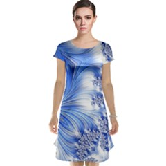 Special Fractal 17 Blue Cap Sleeve Nightdresses