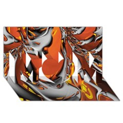 Special Fractal 24 Terra MOM 3D Greeting Card (8x4)
