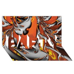 Special Fractal 24 Terra Party 3d Greeting Card (8x4)