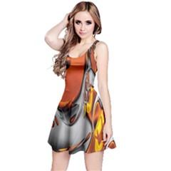 Special Fractal 24 Terra Reversible Sleeveless Dresses