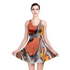 Special Fractal 24 Terra Reversible Skater Dresses