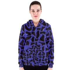 Purple Holes Women s Zipper Hoodie