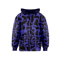 Purple holes Kids Zipper Hoodie