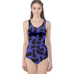 Purple holes Women s One Piece Swimsuit