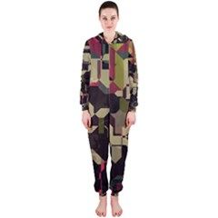 Techno Puzzle Hooded Onepiece Jumpsuit