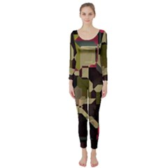 Techno puzzle  Long Sleeve Catsuit