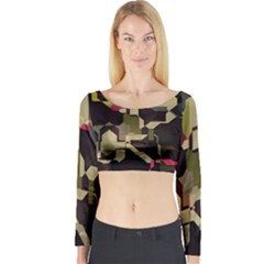 Techno Puzzle Long Sleeve Crop Top