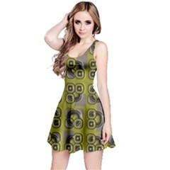 Plastic shapes pattern Sleeveless Dress