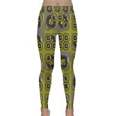 Plastic Shapes Pattern Yoga Leggings