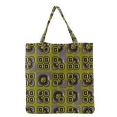 Plastic Shapes Pattern Grocery Tote Bag