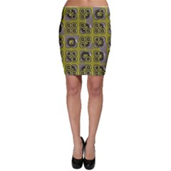 Plastic Shapes Pattern Bodycon Skirt