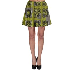Plastic Shapes Pattern Skater Skirt