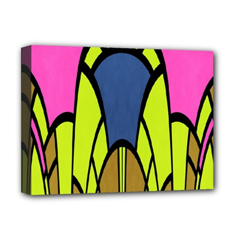 Distorted Symmetrical Shapes Deluxe Canvas 16  X 12  (stretched)