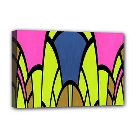 Distorted Symmetrical Shapes Deluxe Canvas 18  X 12  (stretched)