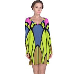 Distorted Symmetrical Shapes Nightdress