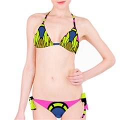 Distorted symmetrical shapes Bikini set