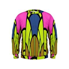 Distorted symmetrical shapes  Kid s Sweatshirt