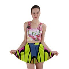 Distorted symmetrical shapes Mini Skirt