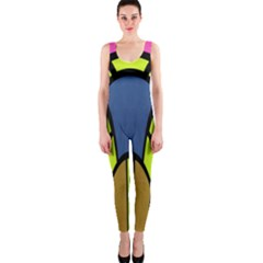 Distorted symmetrical shapes OnePiece Catsuit