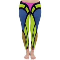 Distorted symmetrical shapes Winter Leggings