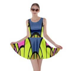 Distorted Symmetrical Shapes Skater Dress