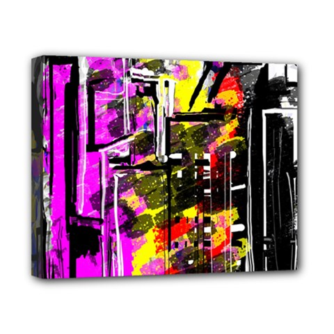 Abstract City View Canvas 10  x 8