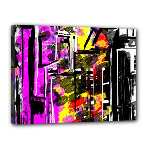 Abstract City View Canvas 16  X 12