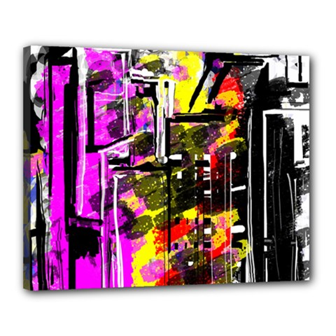 Abstract City View Canvas 20  x 16