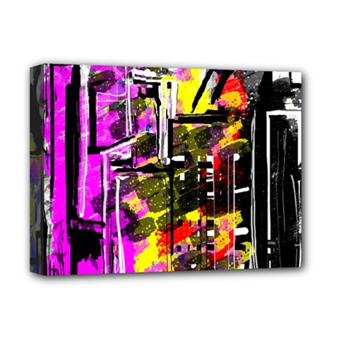 Abstract City View Deluxe Canvas 16  X 12