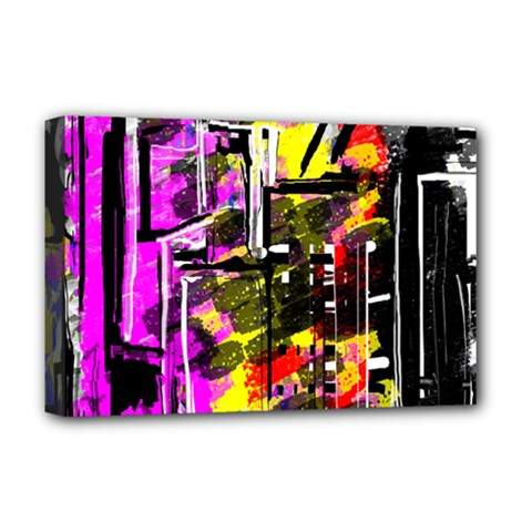Abstract City View Deluxe Canvas 18  X 12