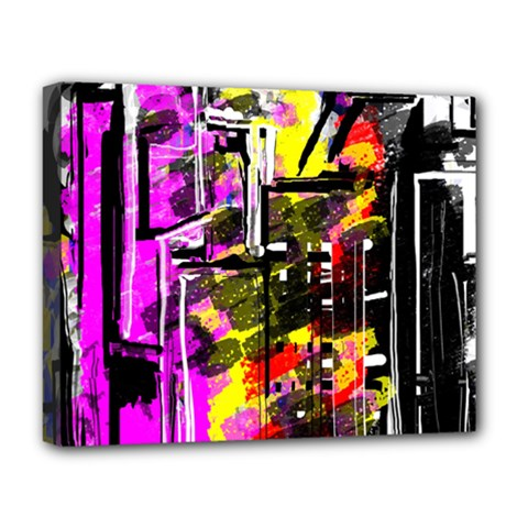 Abstract City View Deluxe Canvas 20  X 16