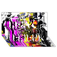 Abstract City View Best Friends 3D Greeting Card (8x4)