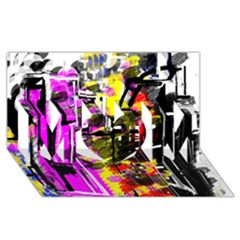 Abstract City View Mom 3d Greeting Card (8x4)