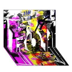 Abstract City View BOY 3D Greeting Card (7x5)