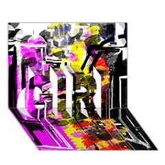 Abstract City View GIRL 3D Greeting Card (7x5)