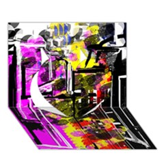 Abstract City View Heart 3D Greeting Card (7x5)