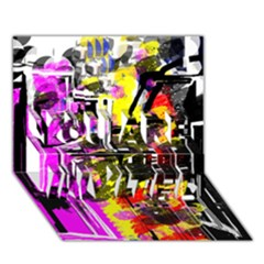Abstract City View YOU ARE INVITED 3D Greeting Card (7x5)