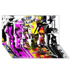 Abstract City View BEST SIS 3D Greeting Card (8x4)